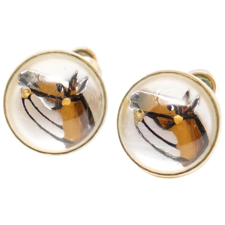 Clip-On Horse Head Earrings For Sale
