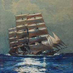 Leslie A Wilcox, Clipper by Moonlight