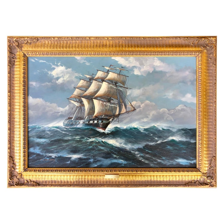 """""""Clipper in Rough Seas"""" by Michael Whitehand"""
