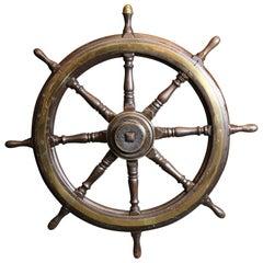 Clipper Ship Era Oak Wheel