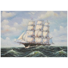 Clipper Ship Oil Painting