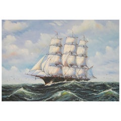 Clipper Ship Painting