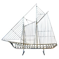 Clipper Ship Sculpture, Curtis Jeré Signed