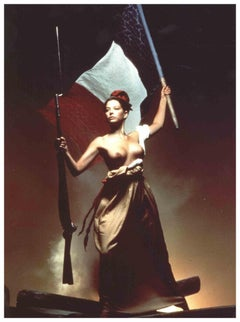 Cover of 1991 Pirelli calendar by Clive Arrowsmith - Vintage Photograph