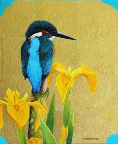 Kingfisher and Flag Iris