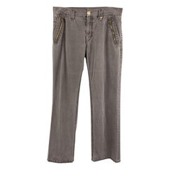 CLOAK Size 32 Charcoal Wash Cotton Blend Casual Pants