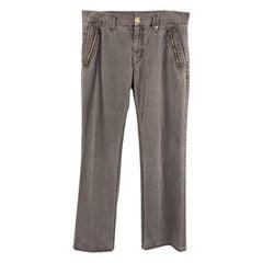 CLOAK Size 32 Charcoal Wash Cotton Blend Casual Pants