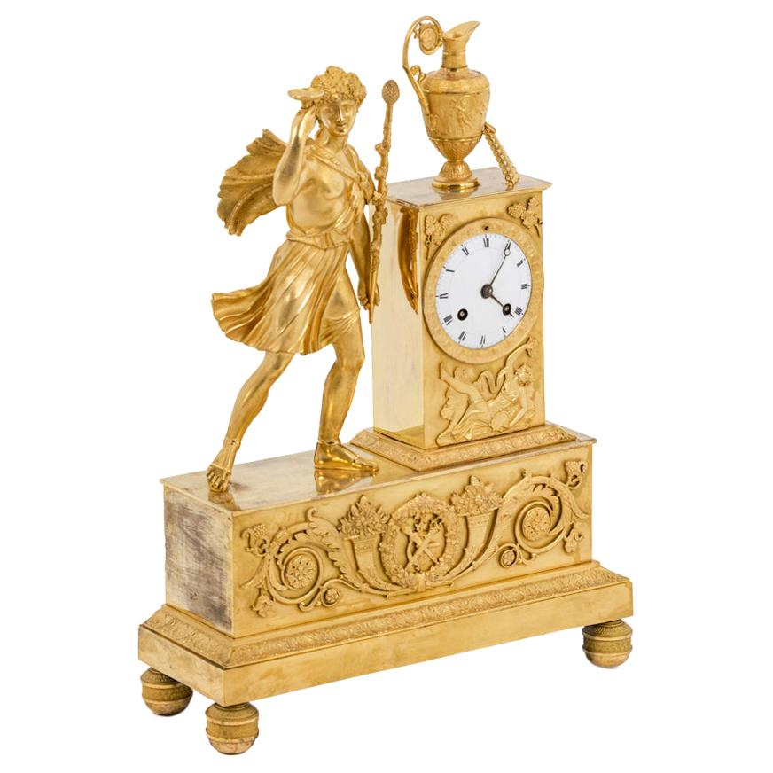 Clock in Gilt Bronze, Empire Period