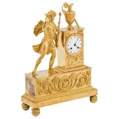 Clock in Gilt Bronze, Empire Period