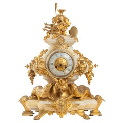 Clock Napoleon III from Eugene Cornu, Bronze and Onyx, 19th Century