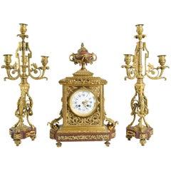 Clock Set, 19th Century, Lemerle Charpentier