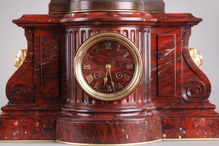 Clock Shepherds of Arcadia by Aizelin and Barbedienne In Good Condition For Sale In Paris, FR