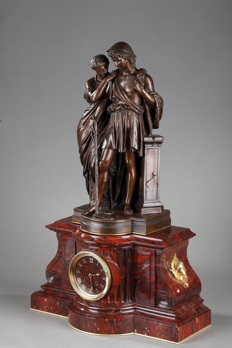 Clock Shepherds of Arcadia by Aizelin and Barbedienne For Sale 1