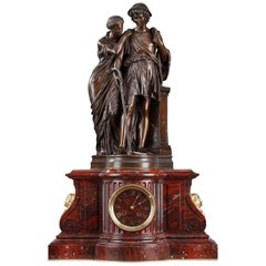 Clock Shepherds of Arcadia by Aizelin and Barbedienne