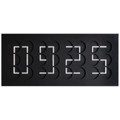 ClockClock 24 Black by Humans since 1982, Kinetic Sculpture, Wall Clock