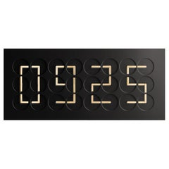 ClockClock 24 Black with Golden Hands by Humans Since 1982, Kinetic Sculpture