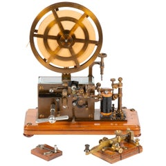 Clockwork Telegraph Register and Key, by Ericsson & Co of Sweden