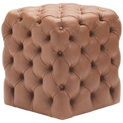 Clod Pouf/Ottoman in Leather by Studio Tecnico Pacini & Cappellini