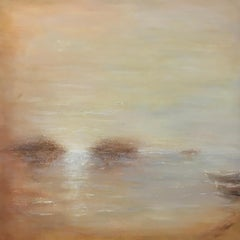 Golden - Contemporary Landscape Painting by Clodagh Meiklejohn