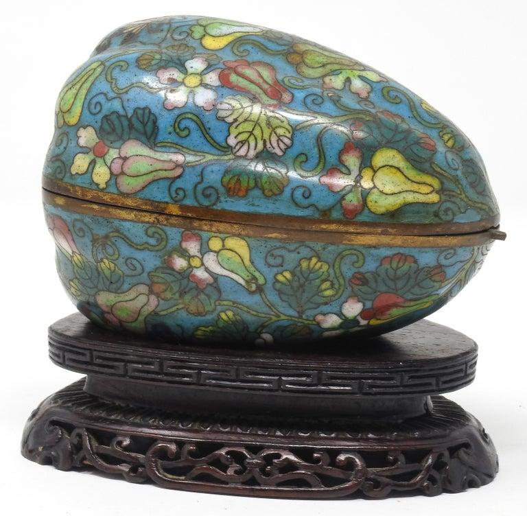 Cloisonné Artichoke Decorative Trinket Box For Sale 4