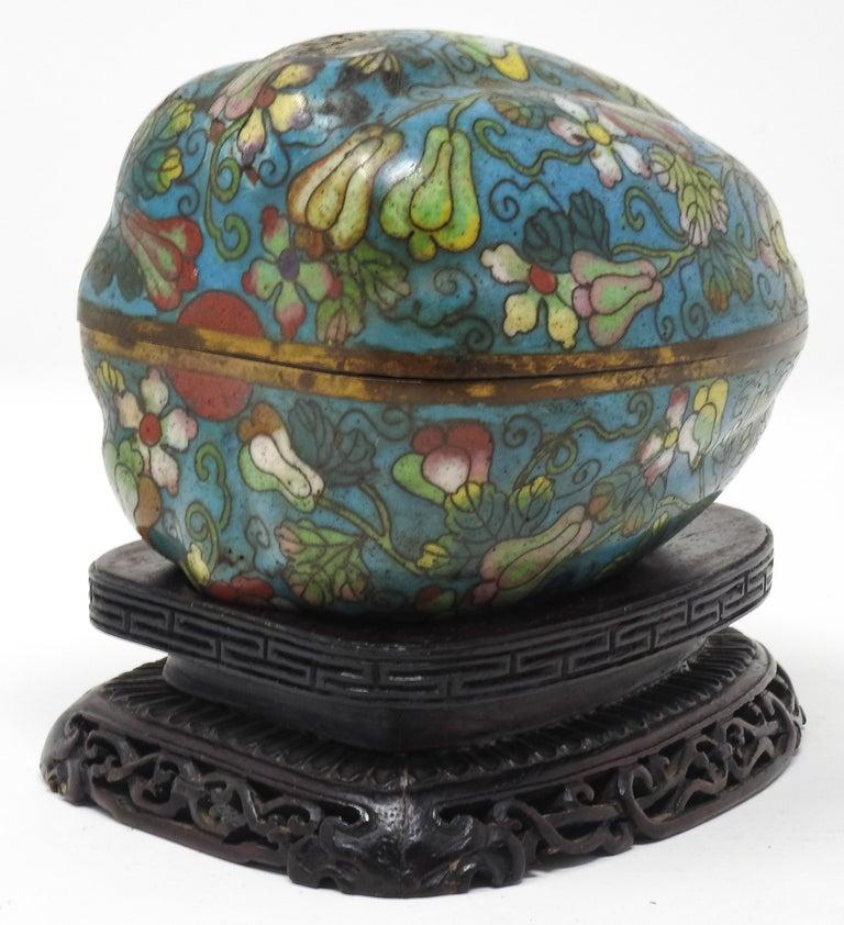 Cloisonné Artichoke Decorative Trinket Box For Sale 5