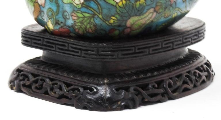 Cloisonné Artichoke Decorative Trinket Box For Sale 6