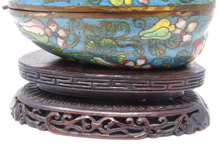 Chinese Export Cloisonné Artichoke Decorative Trinket Box For Sale