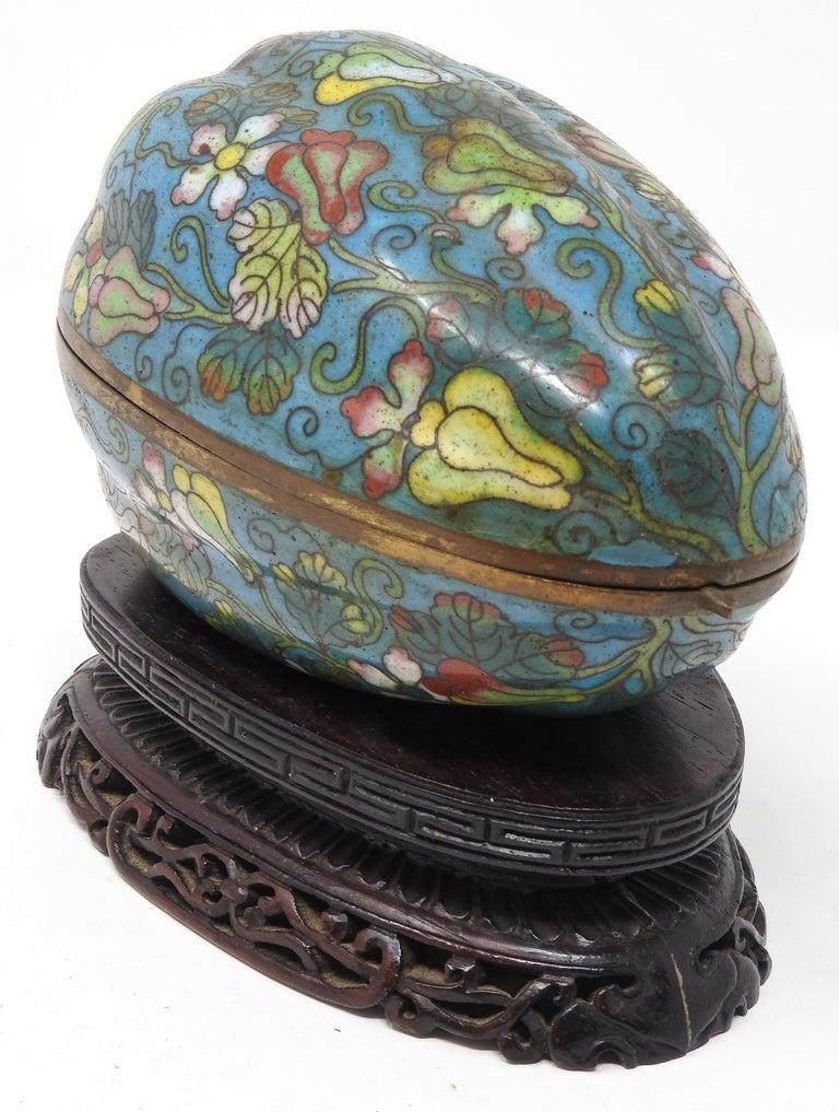 Metalwork Cloisonné Artichoke Decorative Trinket Box For Sale