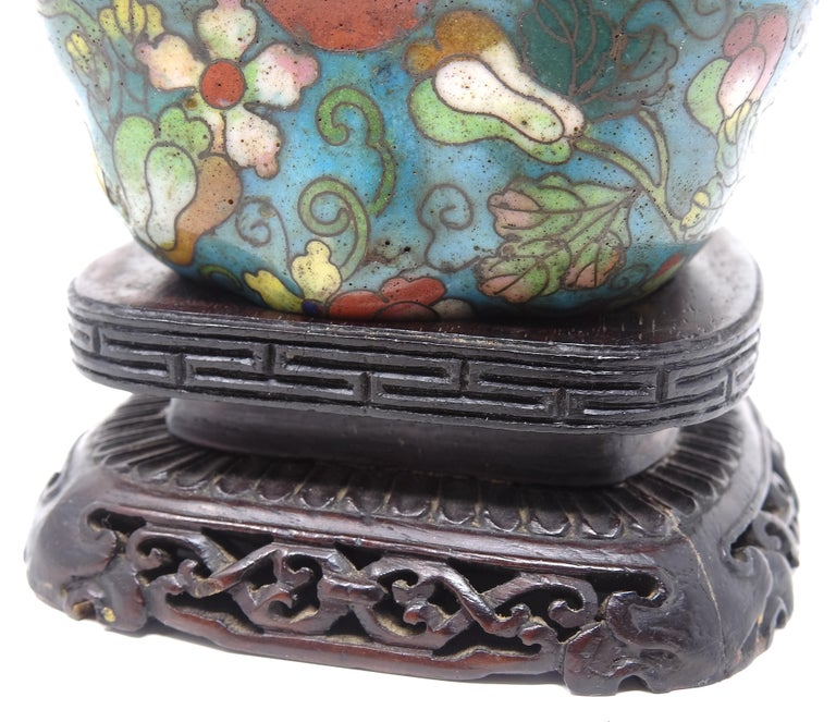 Metal Cloisonné Artichoke Decorative Trinket Box For Sale