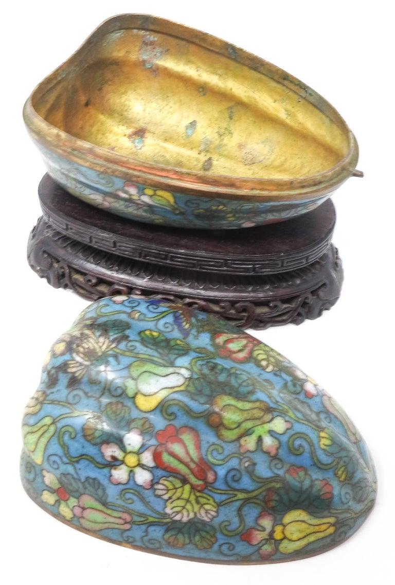 Cloisonné Artichoke Decorative Trinket Box For Sale 1