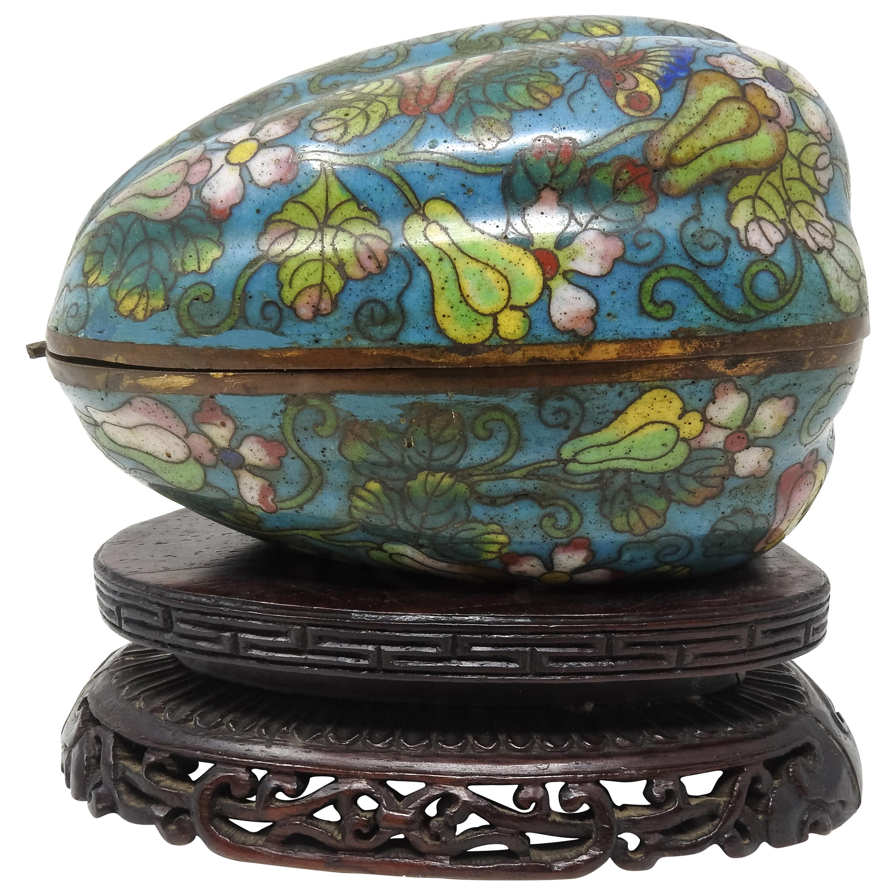 Cloisonné Artichoke Decorative Trinket Box