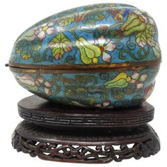 Cloisonné Artichoke Decorative Trinket Box