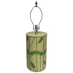 Cloisonne Bamboo and Fern Motif Lamp by Jaime Young
