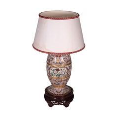 Cloisonnè Lamp Bronze, China, 20th Century
