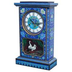 Cloisonné on Bronze Shelf Clock