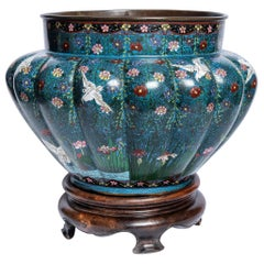 Cloisonné Centerpiece, Japan, Late 19th Century