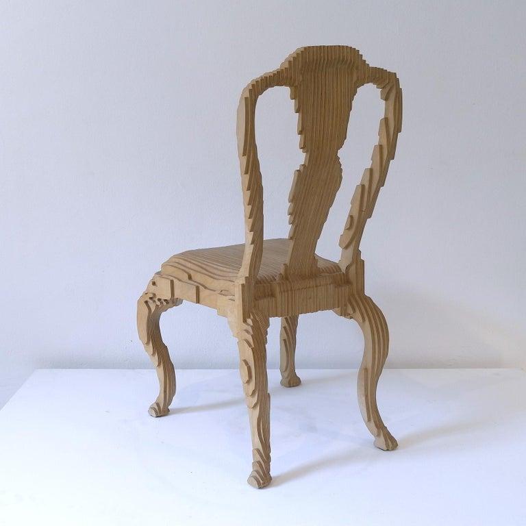 Italian Clone Chair in Wood by Julian Mayor For Sale