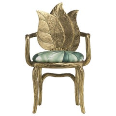 Clorophilla Gold Chair by Fratelli Boffi