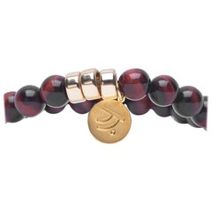 Closer Red Tiger Eye with Gold Accents Bracelet