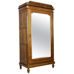 Closet-Linen Cabinet from the Interwar Period with a Mirror
