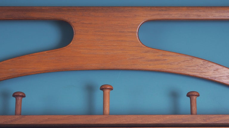 Danish Valet in teak and leather by Adam Hoff and Poul Østergaard, Denmark For Sale