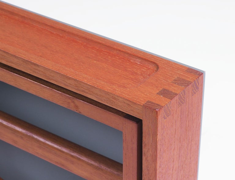 Leather Valet in teak and leather by Adam Hoff and Poul Østergaard, Denmark For Sale