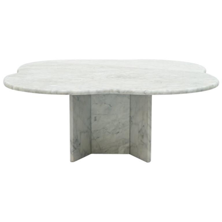 Cloud Coffee Table in Italian Carrara Marble, 1970s