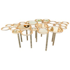 Cloud Coffee Table Iron Gold Leaf by Antonio Cagianelli, Italy, 2000s