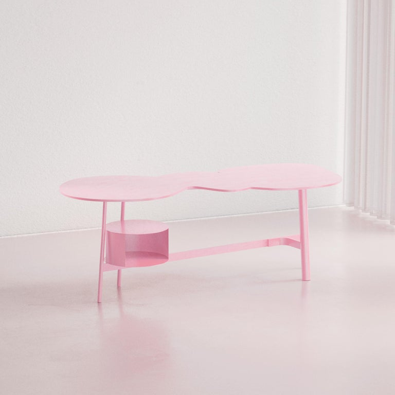 Cloud desk pink work table inspired by a specific dream one night of June 2020. Creator: Andrés Reisinger x Reisinger Studio  Production time: It will take 8-12 weeks to make this piece.