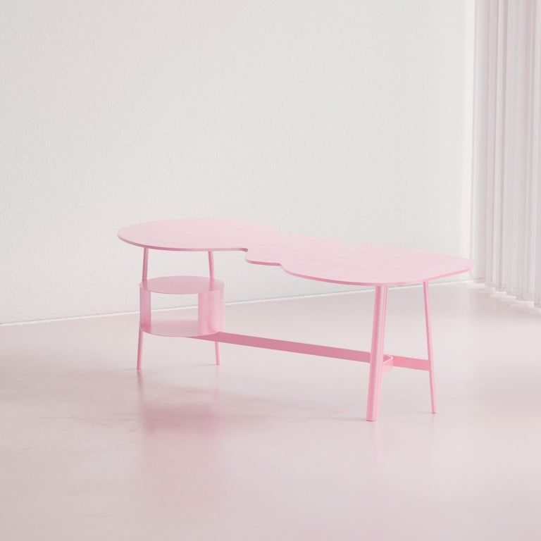 Spanish Cloud Desk Pink Dreamy Work Table by Reisinger Andres For Sale