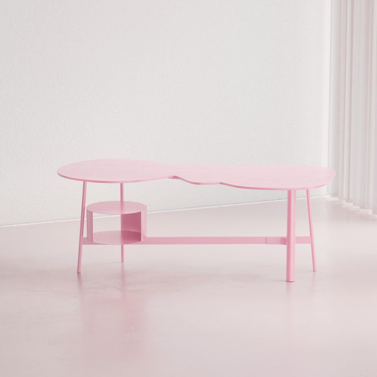 Other Cloud Desk Pink Dreamy Work Table by Reisinger Andres For Sale