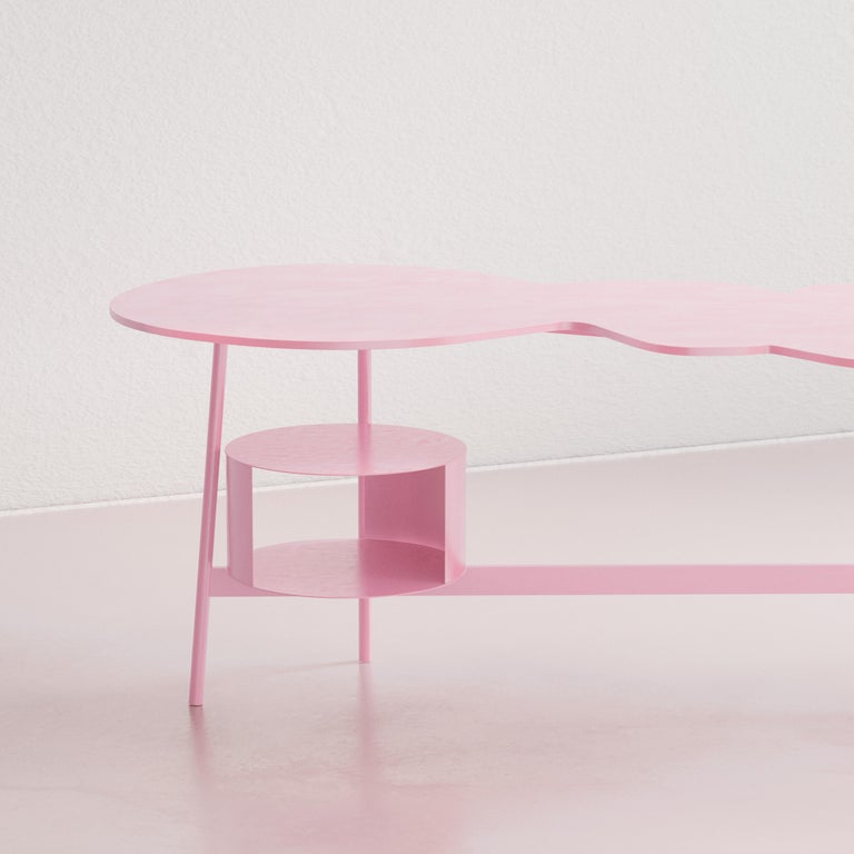 Cloud Desk Pink Dreamy Work Table by Reisinger Andres In New Condition For Sale In Málaga , ES
