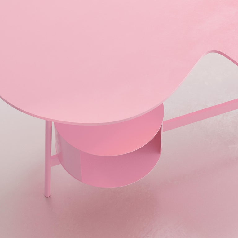 Metal Cloud Desk Pink Dreamy Work Table by Reisinger Andres For Sale