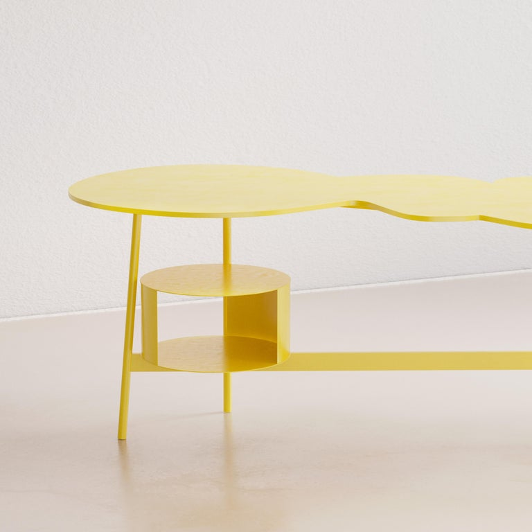 Other Cloud Desk Yellow Dreamy Work Table by Reisinger Andres For Sale